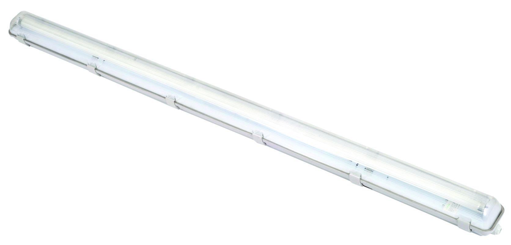 Feuchtraum-Wannenleuchte IP65 für LED-Röhren – mit 3h-Notlicht