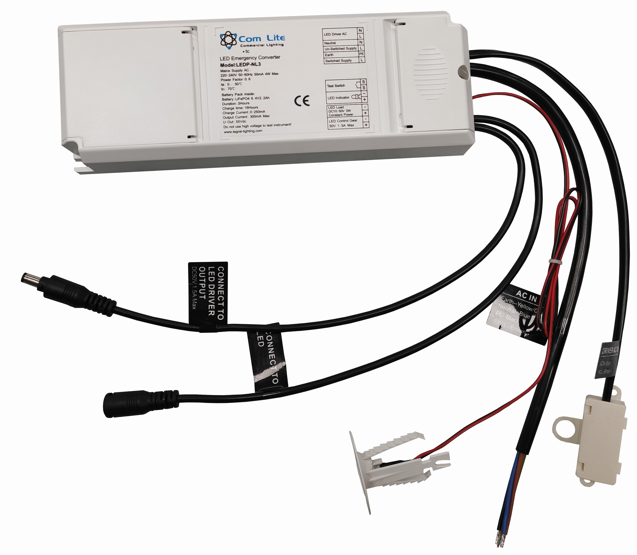 3h-Notlichtelement mit Autotest für LED-Panels