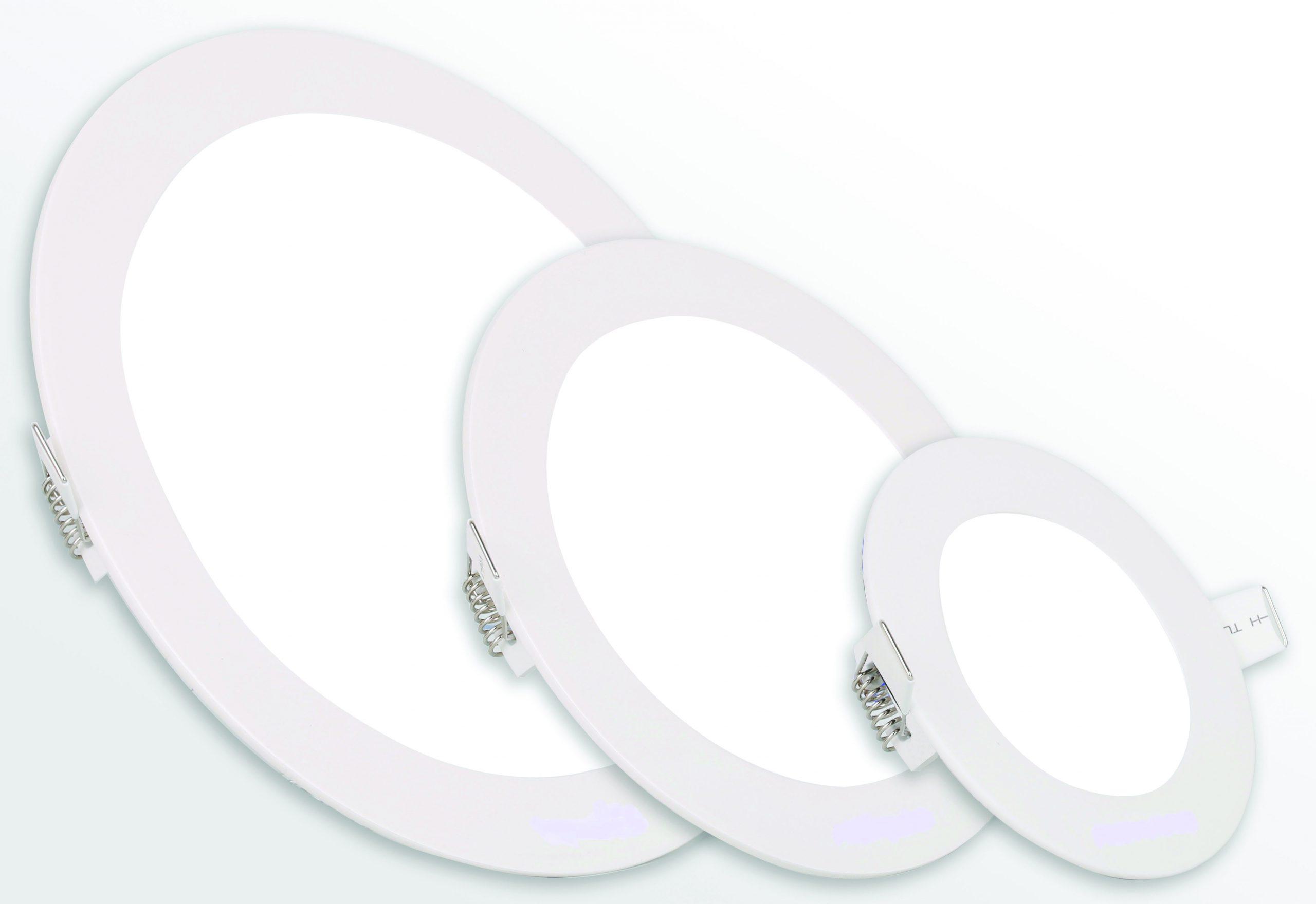 Einbau LED-Panel Slimbau, runde Ausführung