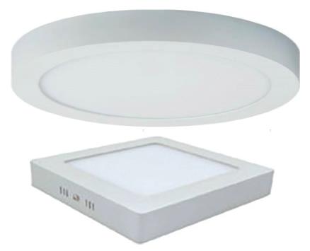 Aufbau LED-Panel - runde & quadratische Ausführung