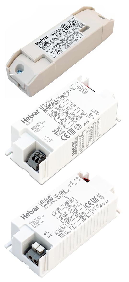 LED-Treiber von Helvar - SELV60 Mini-Series mit DIP-Schalter