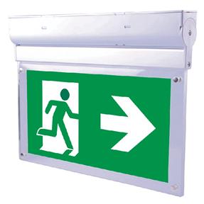 LED-Rettungswegleuchte mit Autotest (für Anbau auf Wand oder Decke)