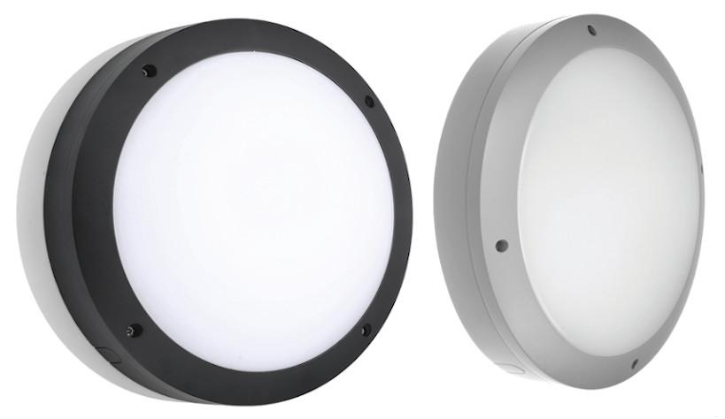 Runde Alu-Druckgussleuchte IP65: Lichtfarbe einstellbar