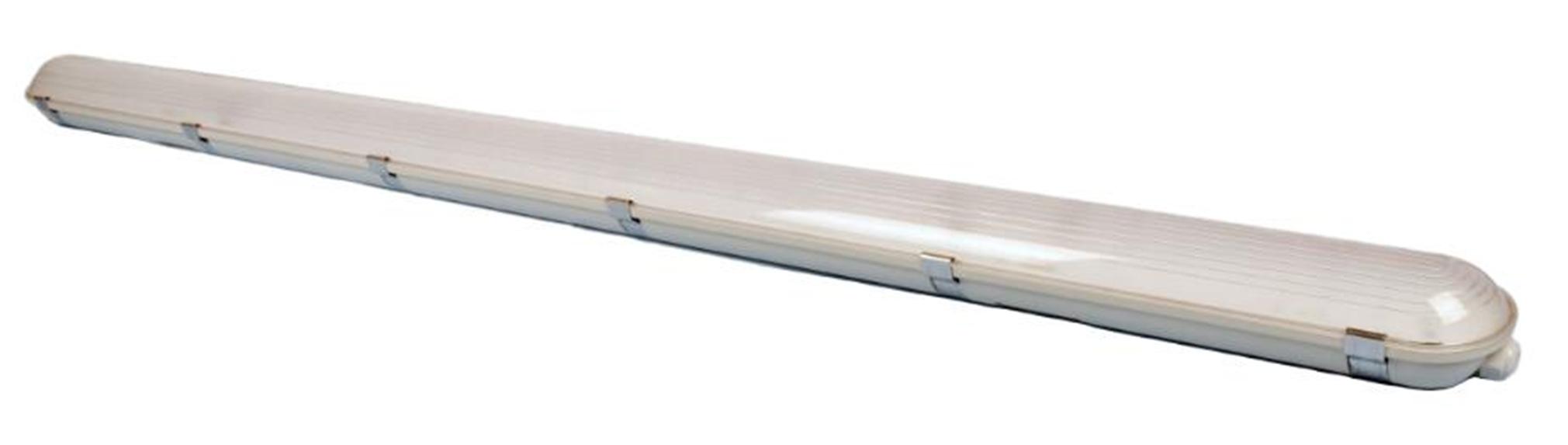 LED Feuchtraum-Wannenleuchte mit gefrosteter Wanne